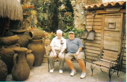 Rev. Bull and Rev. Cohen relaxing in Caracus